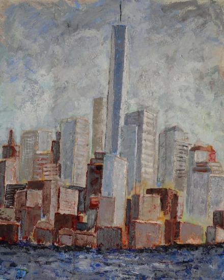 New york number one manhattan 100x80 12 2015 acryl