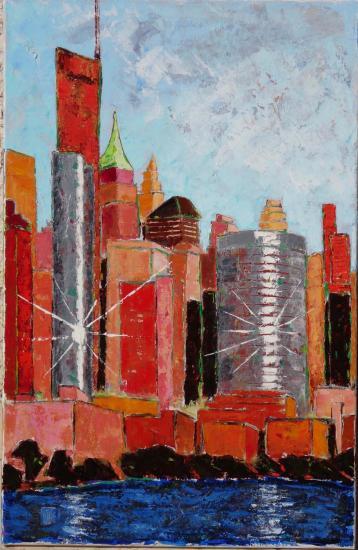 New york Eclats de soleil sur manhattan 30 M 92x60 02 2016 acry 02 l 1