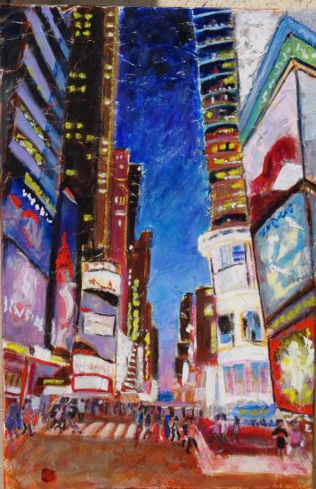 New york le soir 2 30m 92x60 acryl 06 2016