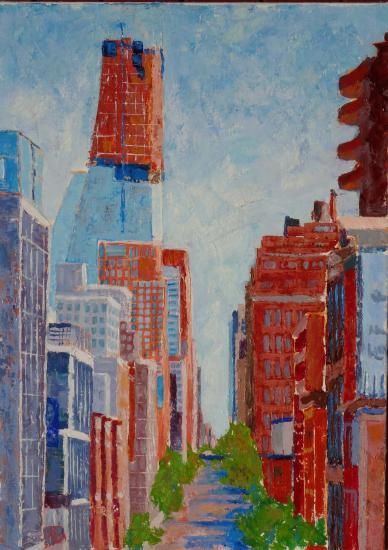 New york nouveau building vu de la high line 10 2015 acryl