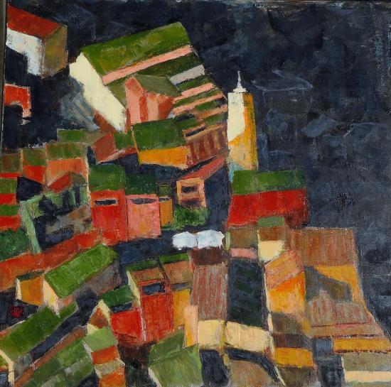 Roussillon le soir 80x80 2020